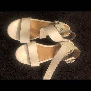 White Steve Madden Platform Sandals